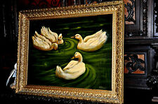 Great old Duck oil Painting