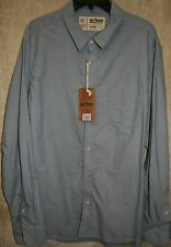 NWT urban PIPELINE  long sleeve Woven Oxford shirt Blue XL 1 Pocket mens shirt