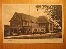 1919 alte AK Löhne i.W. Bahnhofsgebäude Bahnhof Kr. Herford