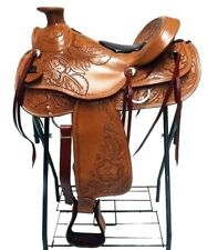 "15"" CLASSIC WESTERN HORSE TACK WADE LIGHT ROPING TRAIL LEATHER RANCH SADDLE"