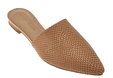 2a718ed26f1 H by Halston Pointed Toe Snake Embossed Leather Slide Women s Shoes Alina  Sand 5