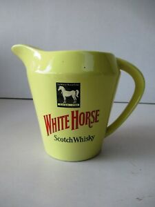 """Vintage White Horse Scotch Whisky Water Jug By Wade England Rare Collectibles""""F8"""