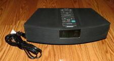 Bose Wave Radio Alarm Clock AM/FM Black AWR1-1W-No Remote-WORKS GREAT!