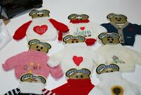 "9 New Stuffed Bear Sweaters fits 10"" to 12"" Bears Clothes"