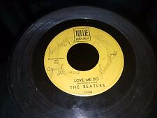 Tollie Records Move Me Do The Beatles Signed Back and Front 1964