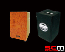 CAJON MP985 NATURAL WOODEN RHYTHM BOX DRUM MANO PERCUSSION w MATCHING PADDED BAG