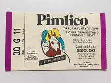 1986 111th Preakness Stakes Ticket Snow Chief defeats Ferdinand Pimlico Pass