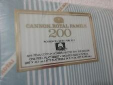Cannon Royal Family 200 Full Flat Sheet No Iron Luxury Percale Vintage New