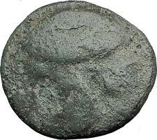 KASSANDER Macedonia King RARE R1  CHALKIDIAN HELMET Spearhead Greek Coin i62824