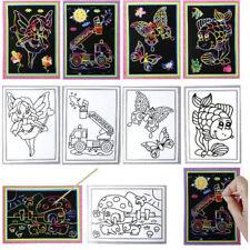 24 Stück Kratzbild Mini Regenbogenfarben 11x18cm Basteln & Kreativität