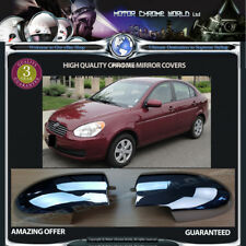 FITS TO HYUNDAI ACCENT ERA CHROME MIRROR COVERS 3y GUARANTEE 2005-2010 OFFER NEW