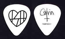 The Smoking Hearts Calvin Roffey Signature White Guitar Pick - 2014 Tour