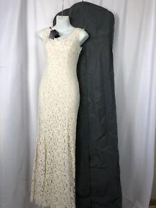BHLDN Tadashi Shoji Lace Dress Wedding Gown  Size 2 Ivory