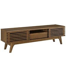 Modern Living Lounge Media TV Stand Console Table Rack, Natural Wood, 13757