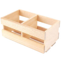 1:12 Dollhouse Miniature Wood Vegetable Fruits Basket Container Accessories V7N