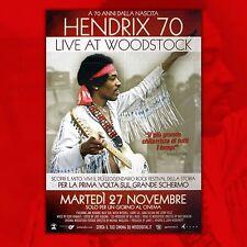 Original Movie Poster Jimmy Hendrix 70 Live At Woodstock - Size. 100x140 CM