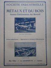 10/1924 PUB SIMB AVIONS BERNARD HUBERT LA COURNEUVE USINE AVION DE CHASSE AD