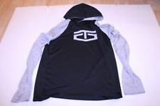 Men's Tapout M L/S Athletic Hooded Shirt (Black/Grey) Tapout