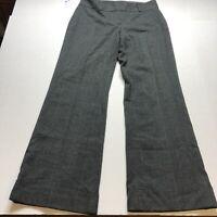 Ann Taylor Signature Fit Wide Leg Trouser Gray Plaid Dress Pants Sz 6 New A1485