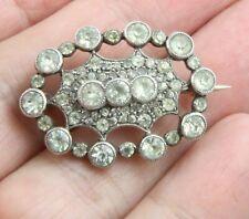 silver paste diamond stone brooch pin Antique exquisite Art Deco circa 1920