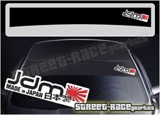 "SS5064 JDM ""MADE IN JAPAN"" voiture Sun Strip Sticker Fits Subaru Honda Nissan"