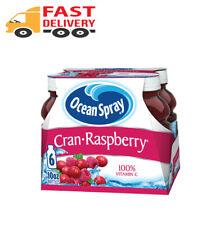 New listing (4 Pack) Ocean Spray Juice, Cran-Raspberry, 10 Fl Oz, 6 Count.
