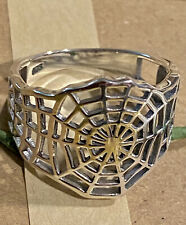 CREEPY CRAWLY SPIDER'S WEB Sterling Silver Men's Ring 925 size 9.25