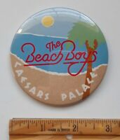 Vintange Beach Boys Caesars Palace  Large Button Pinback Surf Rock Roll Vegas