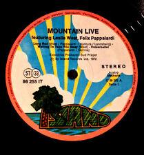 "1972 MOUNTAIN LIVE LESLIE WEST FELIX PAPPALARDI AUSTRIA ISLAND PINK RIM 12"" LP"