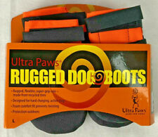 Ultra Paws Rugged Dog Boots Size Large Hunting Outdoor Gear Booties NEW orange