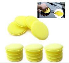 12x Waxing Polish Foam Sponge Applicator Pads Fit Cleaning Car Glass Yellow