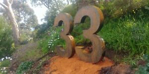 Giant 3d house numbers rusted steel Customized personalized. Add your own touch