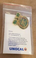 Los Angeles Dodgers 35th Anniversary Pin 5 World Champs MINT