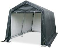 Quictent 8X8ft Black Outdoor Shed Car Tent Carport Canopy Storage Shelter Garage