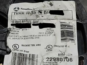 Southwire #10awg 19 Strand THHN/THWN-2/MTW Building Wire Brown /100ft