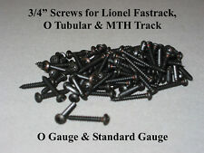 """Lionel 3/4"""" Phillips Head Screws for Fastrack MTH & Accessories o gauge 100 pcs."""