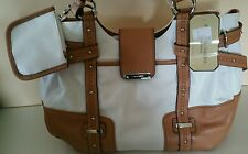Franco Sarto purse white / saddle nice & cheap!