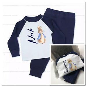 💙 personalised boy pyjamas peter rabbit theme 0-4 years Birthday Christmas Pjs