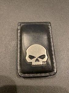 Leather Willie G Harley Davidson Money Clip
