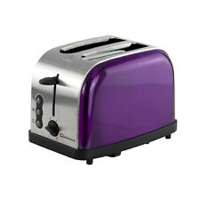 Legacy 900W Toaster with Reheat, Defrost and Cancel, Stainless Steel - Purple