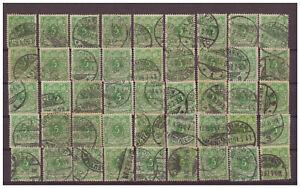 Deutsches Reich, MiNr. 46 Krone/ Adler Lot used Farben | Plattenfehler | Stempel