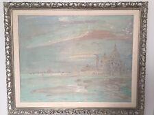 "Jose Alfonso Cuni ( b 1924 Spain) Impressionist Oil Painting Of Venice 38""x 31"""