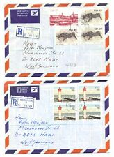 SOUTH AFRICA 1970/89 ca... 8 x REG - COVER TO GERMANY - VF