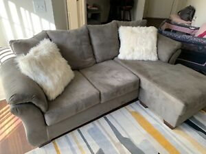 Ashley Furniture Microfiber Sectional Sofa Couch with chase...pillows included!