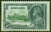 Sierra Leone 1935 5d Green & Indigo SG183a Extra Flagstaff Fine Lightly Mtd Mint