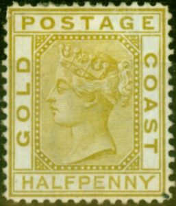 Gold Coast 1879 1/2d Olive-Yellow SG4 Good Unused