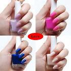 NEW 12ML Beauty Colorful Change Nail art Polish Nail Glitter Varnish Nail Polish