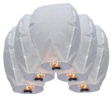 10 PCS WHITE Chinese Paper Flying Sky Fire Lanterns Wishing Wedding Party Lamp