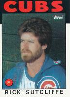 Rick Sutcliffe 1986 Topps #330 Chicago Cubs baseball card