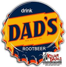 "12"" DAD'S ROOTBEER SODA CBOTTLE CAP POP MACHINE DECAL"
